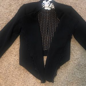 Cropped Trendy Blazer with Lace NEVER WORN